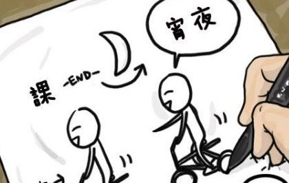 上课漫画简笔画