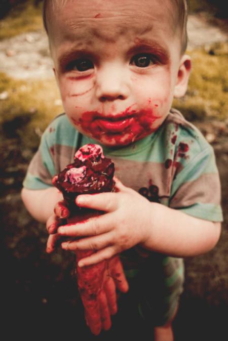 外国小朋友恐怖又可爱的万圣节装扮!不给糖