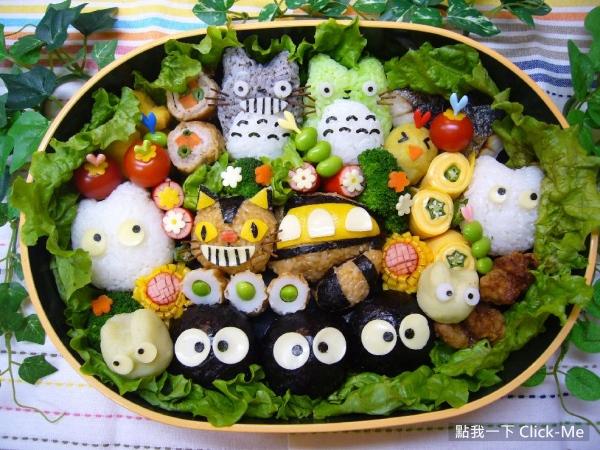 日本可爱动漫造型便当!附加很糟糕的邪恶小道具