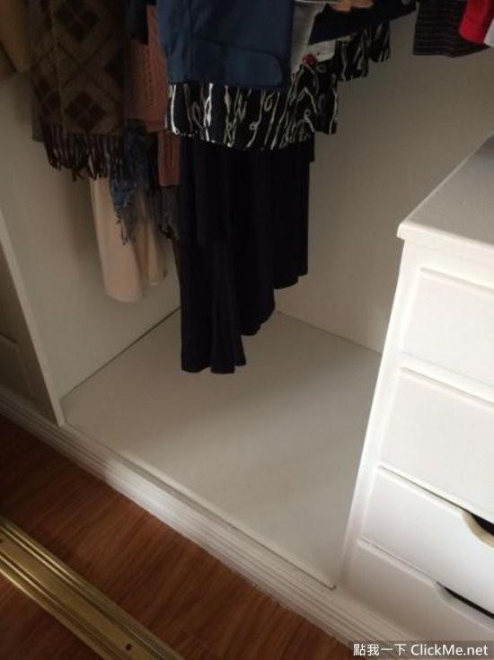 驚覺衣櫃下有神祕空間,撬開後竟發現了…?!
