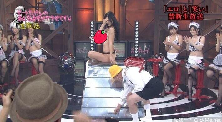 女優現場脫內褲跳箱,私處任人看光光~~