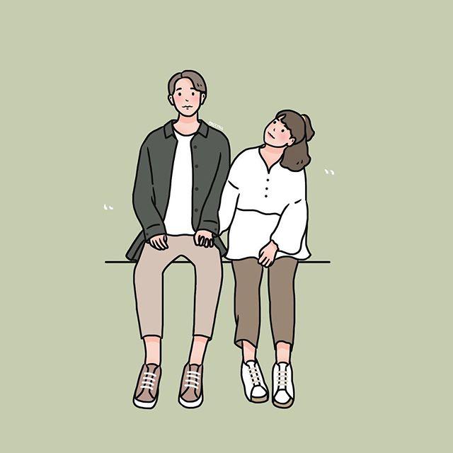 好甜!泰国插画家《18种情侣放闪拍照姿势》照著做简单又自然!-福利巴士