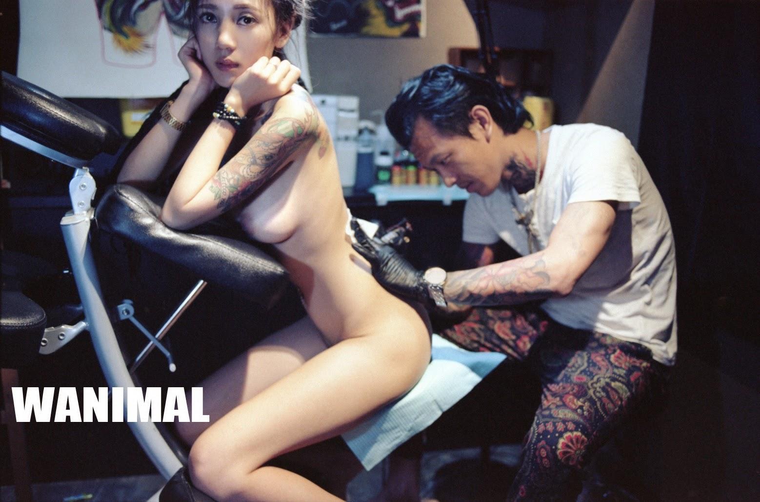 【正妹全裸刺青 - 張玖玲JIULING】無碼套圖