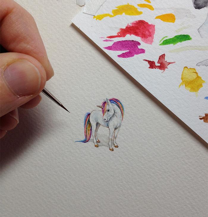超狂老媽每日一幅「微型插畫」,成功向世人證明堅持的重要性!